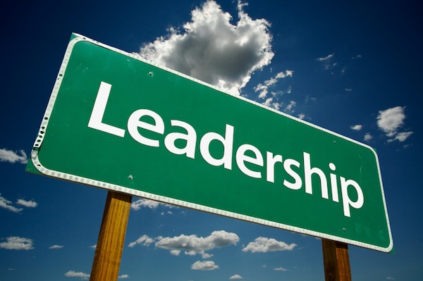 "Sign that Says ""Leadership"""