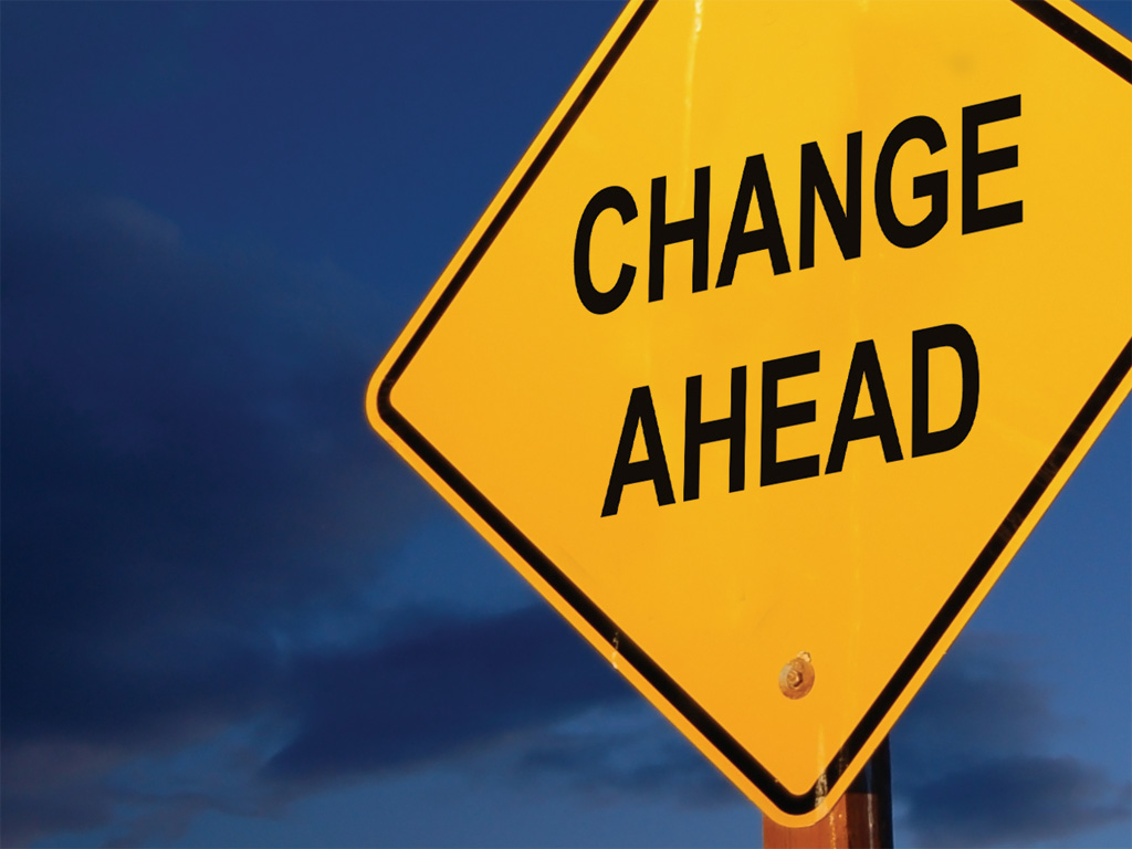 "Sign With ""Changes Ahead"" Written On It"