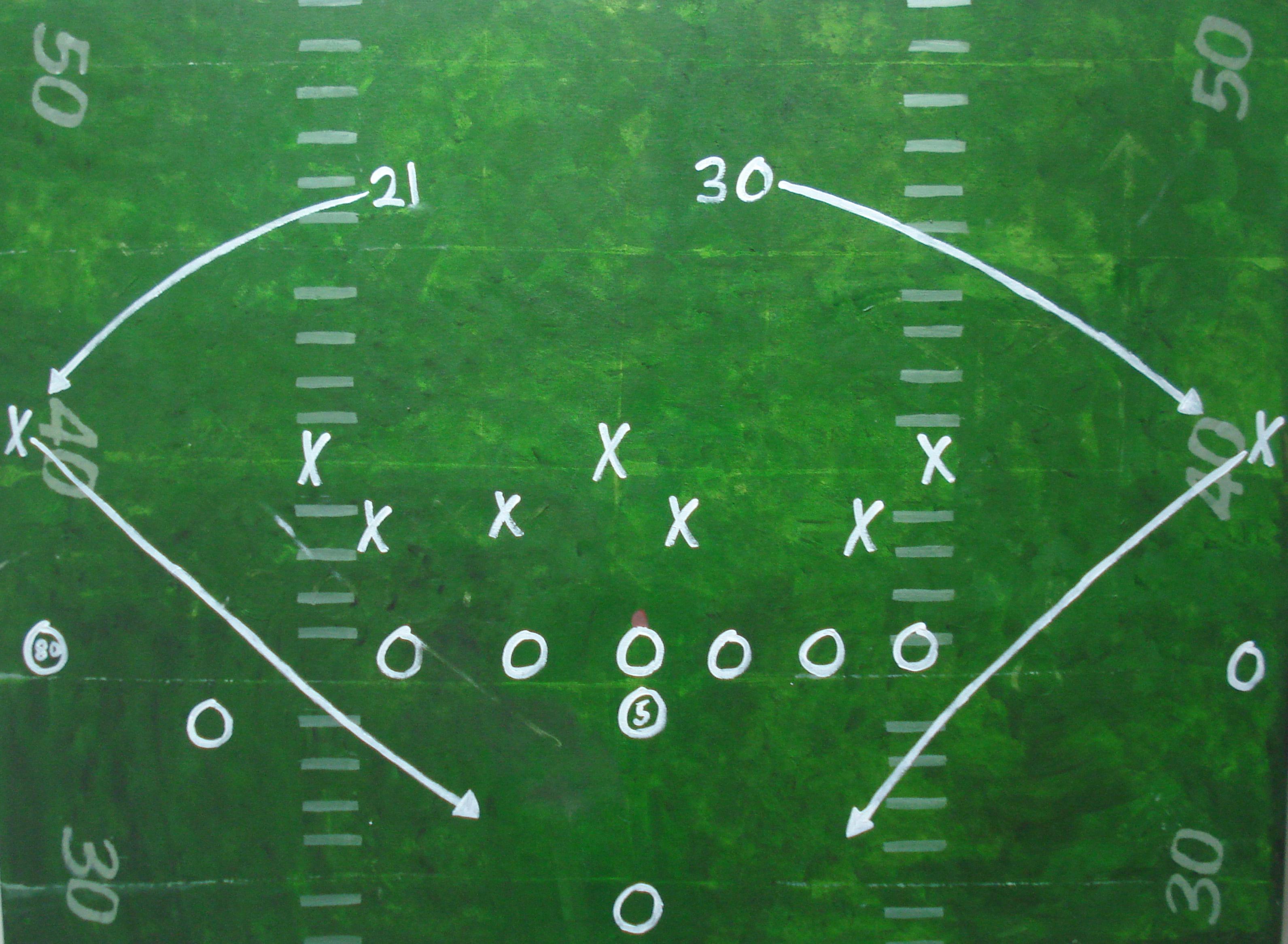 Chalkboard with football strategy