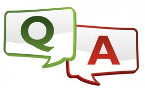 Text bubbles with 'Q' and 'A' in them.