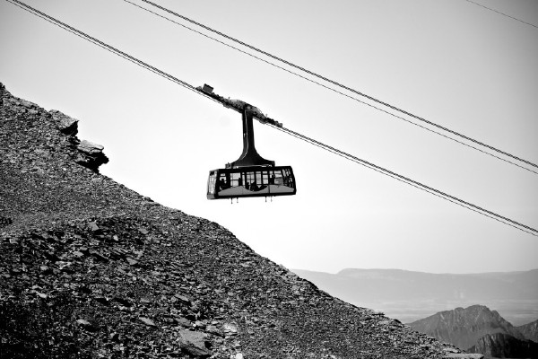 Cable Car Gondola Signifying Leadership & Capitalism Growth