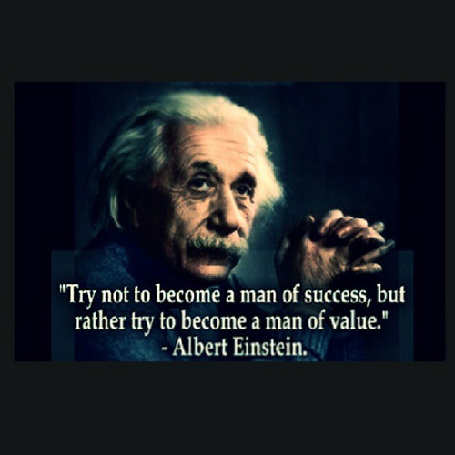 Albert Einstein Quote About Values