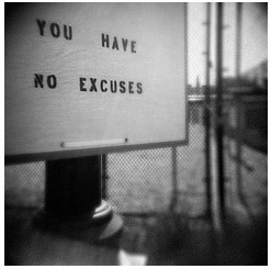 Outdoor Billboard Saying You Have No Excuses